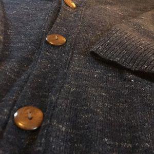 JCrew men's cardigan in wool-linen